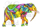 Bull Elephant in Yellow by Karen Campbell
