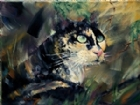 The Huntress (Portrait of a Calico Cat) by David Wickline