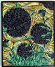 Mars Black Dahlias with Yellow Sky, completed 6/27/17 by Gregory Horndeski